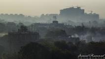 Uitzicht over Pune in de vroege ochtend
