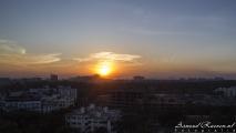 Zonsondergang over Pune