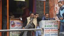 Stalletjes aan de straat in Kathmandu