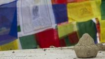 Potje klein met as van een overledene bij de Boudhanath Tempel