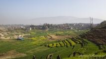 Uitzicht onderweg naar Panauti
