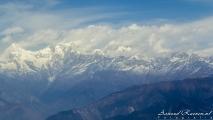 Himalaya vanuit de lucht