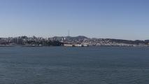 Panorama van het uitzicht op de stad & de baai vanaf Alcatraz