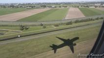 Schaduw van American Airlines Boeing 777-200, N766AN