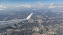 Uitzicht op Dallas bij vertrek
