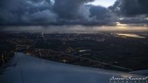 Regenbuitje boven Nederland
