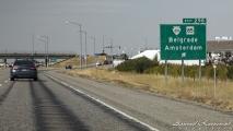 Afslag naar Amsterdam, bij Bozeman (Montana)