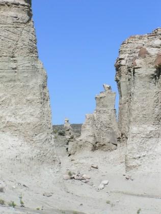 Hoodoo formations in Adobetown