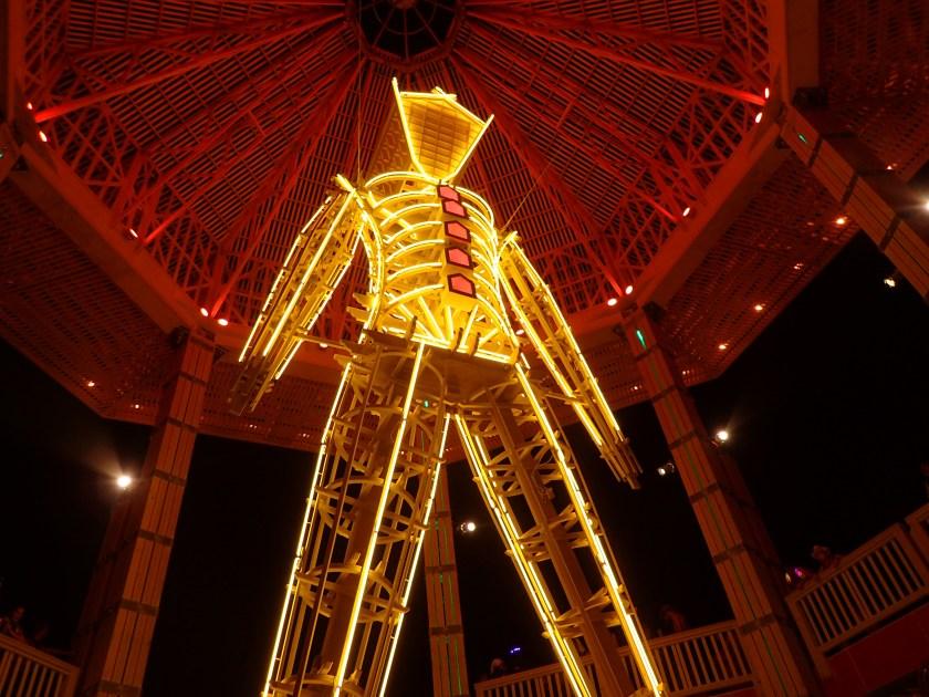 The Man effigy at Burning Man