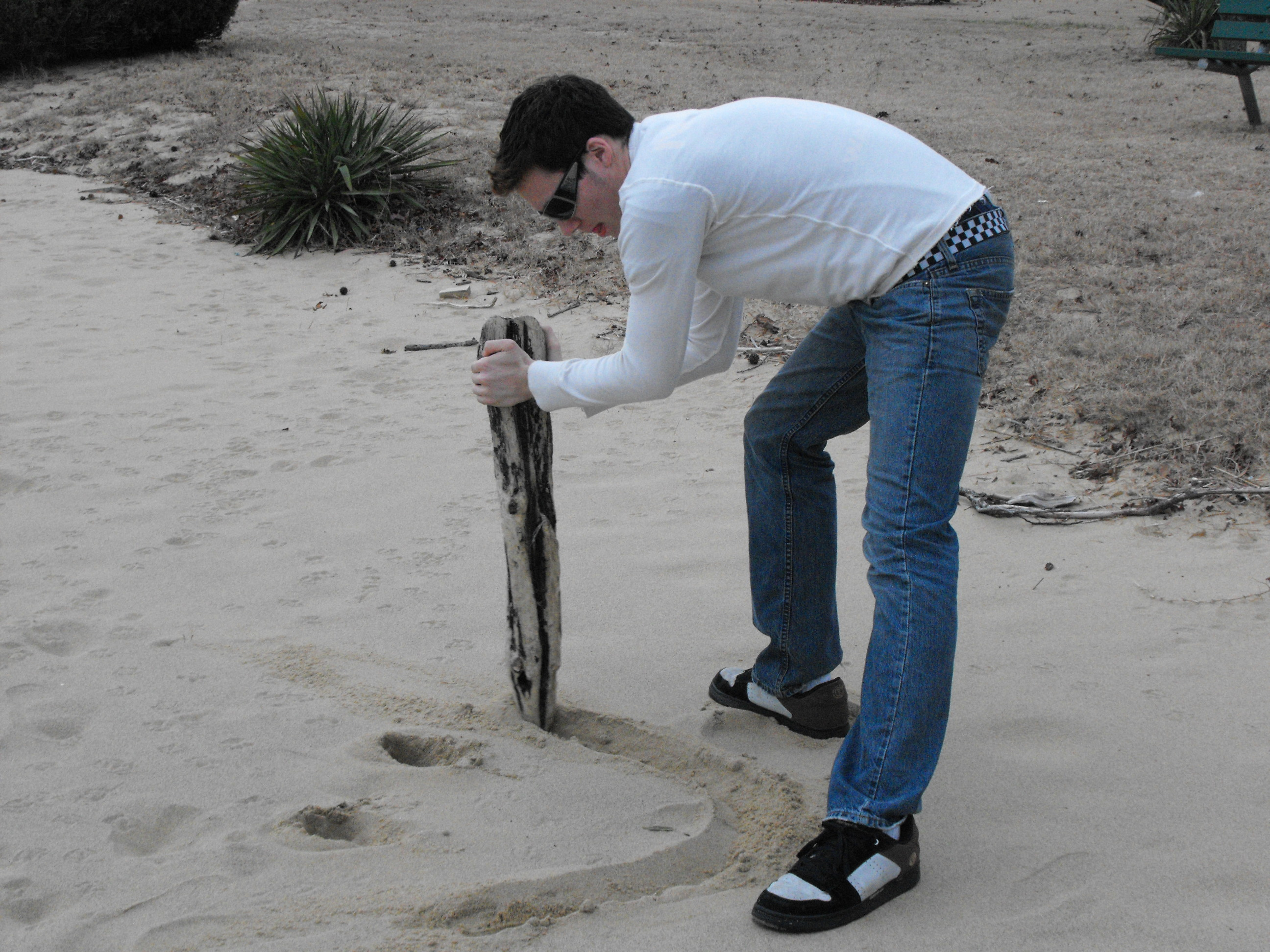 Making a smile out of sand