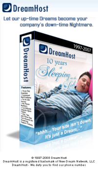 Dreamhost - 10 years sleeping in the Job