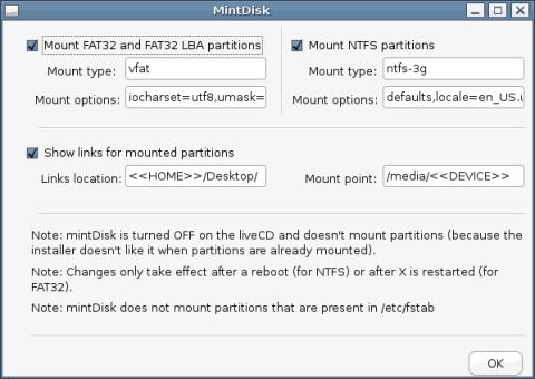Linux Mint - mintDisk