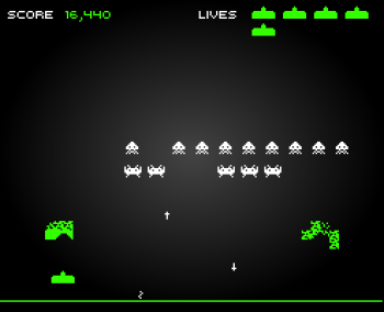 versión flash de space invaders