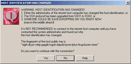 Alerta de cambio de credenciales