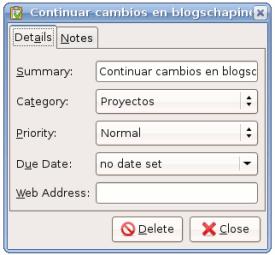 Ubuntu - Tasks: Editar