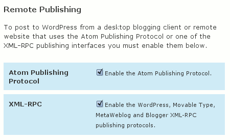 Wordpress 2.6 - XMLRPC