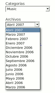 Listado de Archivos en Combo Box - WordPress.com