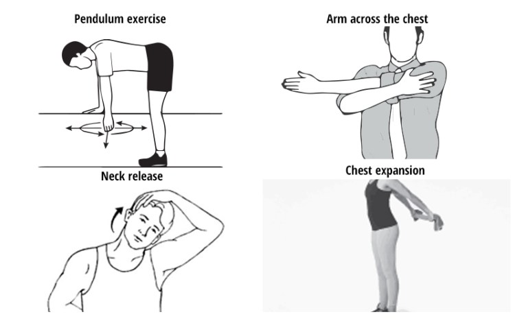 Physiotherapy exercises for shoulder pain at home