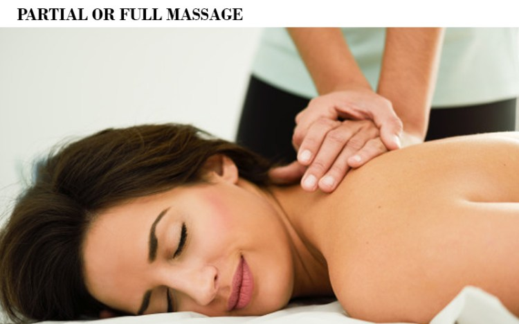 Partial or Full Massage