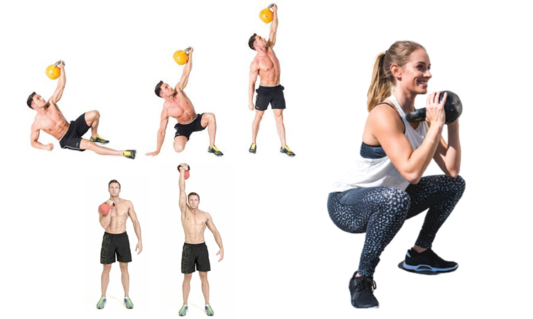 kettlebell collage