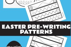 Easter Pre-writing patterns free and great for special education and preschool