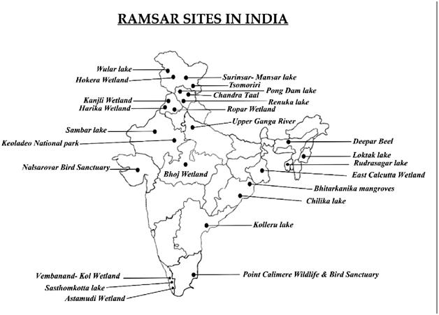 भारत में 4 नई रामसर साइटें