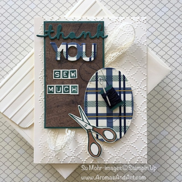 By Su Mohr for tttc035, cts259 and pp381; click visit to go to my blog for details! Featuring: Celebrate You, Wood textures, True gentleman, Labeler Alphabet, Stitched Shapes, Quilt Builder dies, Crafting Forever, Quilt Top embossing folder; #sewing #craftingforever, #sumohr #quiltbuilder #puns #alphabet #stitchedshapes