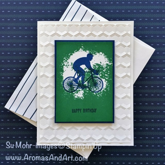 By Su Mohr for Kre8tors Blog Hop; Click READ to go to my blog for details! Featuring: Enjoy Life, Hexagon embossing folder, new colors; #enjoylife #birthdaycards #hexagons #wakeupkickbuttrepeat