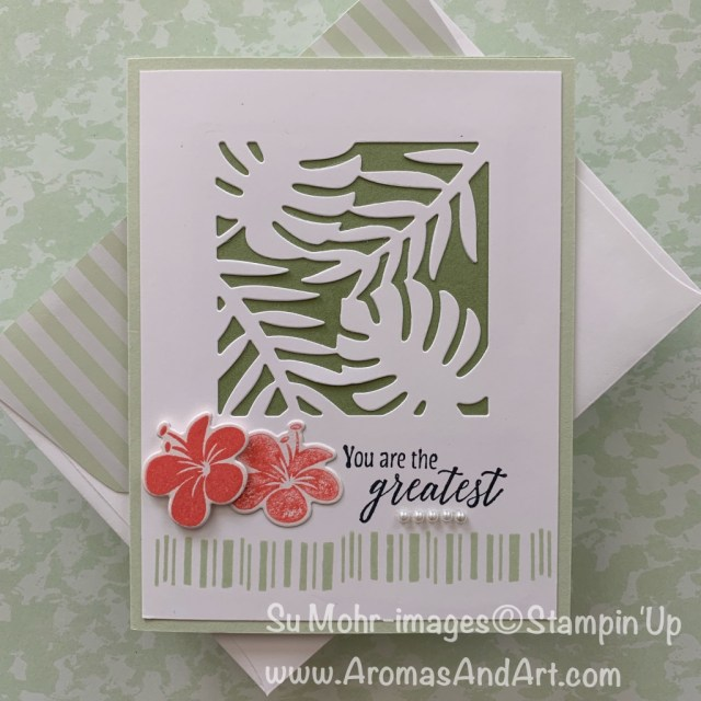 By Su Mohr for WWYS and Fab Fri; Click READ or VISIT to go to my blog for details! Featuring: Tropical Chic stamp set, Tropical Die Set; #tropicalchic #tropicaldies #tropicalcards #cardchallenges #colorchallenges #colorcombinations #handmadecards #handcrafted #friendshipcards #thankyoucards #birthdaycards