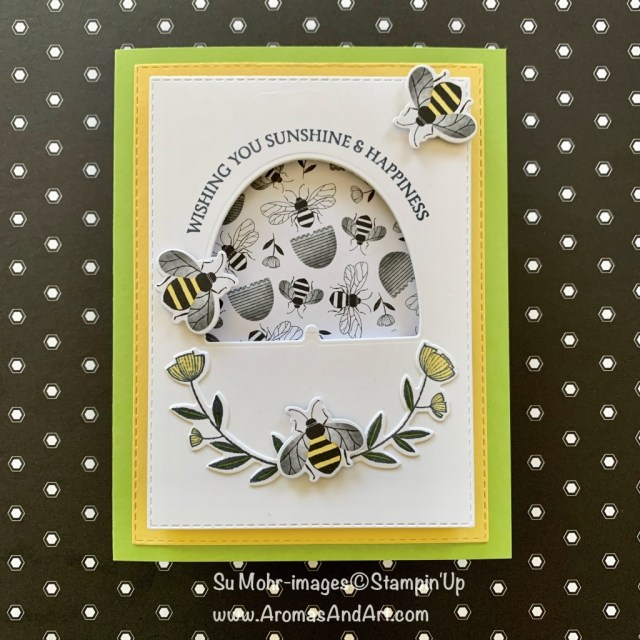 By Su Mohr for Pals Blog Hop; Click READ or VISIT to go to my blog for details! Featuring: Honey bee Bundle, Hoiney Bee Stamp Set, Detailed Bee Dies, Golden Honey Designer Paper, Stitched Rectangles Dies; #friendshipcards #sale-a-bration #2020minicatalog #2020stampinup #honeybees #honeybeebundle #handmadecards #handcrafted #diy #cardmaking #bees #beesoncards