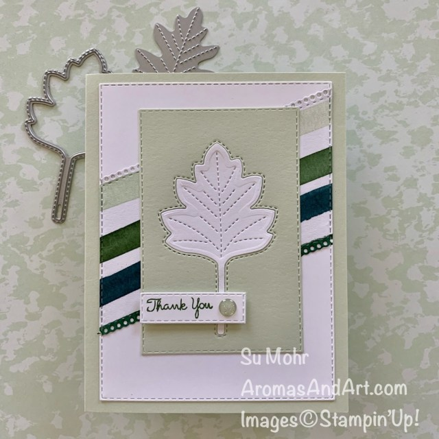 By Su Mohr for PP; Click READ or VISIT to go to my blog for details! Featuring: Love Of Leaves Bundle, Stitched Leaves Dies, Ornate Layers Dies, Stitched Rectangles Dies, Forever Greenery Paper; #loveofleaves #leaves #leavesoncards #forevergreenery #stitchedleaves #handmadecards #sneakpeeks #handcrafted #diy #cardmaking #papercrafting #stampinup #2020minicatalog