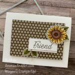 By Su Mohr for #gdp254; Click READ or VISIT to go to my blog for details! Featuring: Celebrate Sunflowers Bundle, Neutrals 6X6 Paper, Stitched Rectangles Dies, Tasteful Textile embossing, Stampin