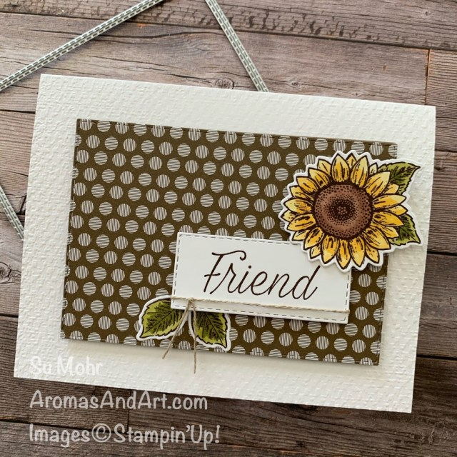 By Su Mohr for #gdp254; Click READ or VISIT to go to my blog for details! Featuring: Celebrate Sunflowers Bundle, Neutrals 6X6 Paper, Stitched Rectangles Dies, Tasteful Textile embossing, Stampin' Blends; #sunflowers #sunflowersoncards #celebratesunflowers #daisylane #flowers #flowersoncards #friendshipcards #alcoholmarkers #cardsketches #cardchallenges #handmadecards #handcrafted #diy #cardmaking #papercrafting