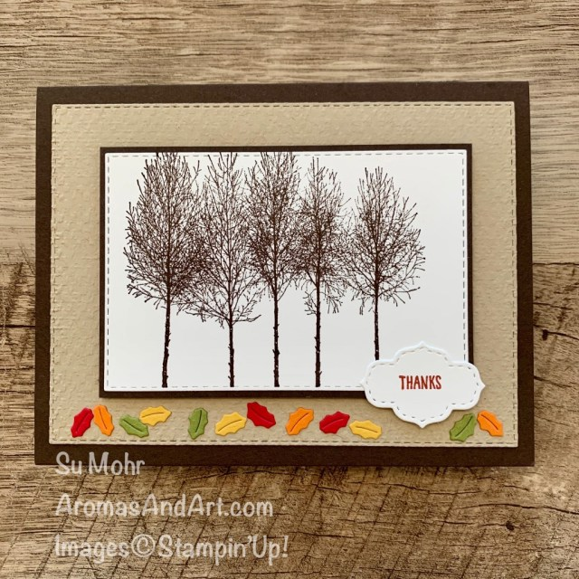 By Su Mohr for GDP263; Click READ or VISIT to go to my blog for details! Featuring: Winter Woods Stamp Set, Stitched So Sweetly Dies, Stitched So Sweetly Dies, Sounds Of The Season Dies, Tasteful Textile embossing; #thanksgivingcards #thankyoucards #treesoncards #winterwoods #gdp263 #globaldesignproject #cardthemes #handmadecards #handcrafted #diy #cardmaking #papercrafting