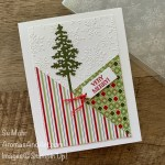By Su Mohr for FMS; Click READ or VISIT to go to my blog for details! Fewaturing: Stitched Triangles Dies, Heartwarming Hugs Designer Paper, Pine Woods Dies, Winter Snow embossing; #christmascards #holidaycards #cardswithangles #treesoncards #holiday2020 #cardsketches #handmadecards #handcrafted #diy #cardmaking #papercrafting #cardinstruction #cardtechniques #trianglesoncards