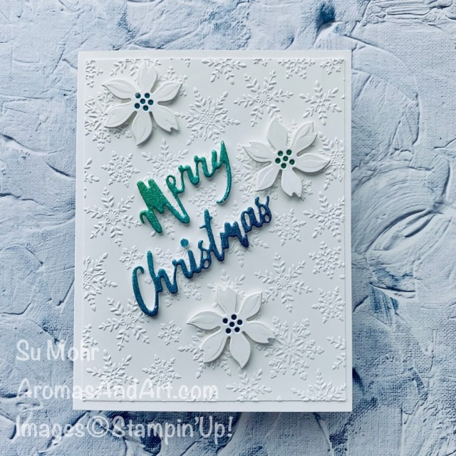 By Su Mohr for cts; Click READ or VISIT to go to my blog for details! Featuring: Word Wishes Dies, Wreath Builder Dies, Rainbow Glimmer Paper, Winter Snow embossing; #christmascards #holidaycards #holiday2020 #wreathbuilderdies #wordwishesdies #paperwords #wintersnow #embossing #cardsketches #cardchallenges #handmadecards #handcrafted #diy #cardmaking #papercrafting #stampinup #paperpumpkin #octoberpaperpumpkin