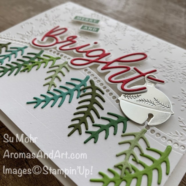 By Su Mohr for the Pals Blog Hop; Click aromasandart.com to go to my blog for details! Featuring: Peace & Joy bundle, Peace& Joy Stamp Set, Joy Dies, Cherish the Season Stamp Set, Sounds of the Season Dies, Cherish the Season bundle, Winter Snow Embossing folder, Curvy Dies; #christmascards #holidaycards #holiday2020 #year-endcloseout #stampinup #peace&joy #joydies #cherishtheseason #soundsoftheseason #curvydies #stampinupsale #retiringitems #handmadecards #handcrafted #diy #cardinstruction #papercrating #merryandbright #paperwords