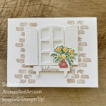 By Su Mohr for FMS; Click aromasandart.com to go to my blog for details! Featuring: Welcoming Window Stamp Set, Window Flower Box Dies, Welcoming WindowBundle; #welcomingwindow #stampinupwelcomingwindow #windows #windowsoncards #saleabration2021 #stampinup2021 #handmadecards #handcrafted #diy #cardmaking #papercrafting #stamping #sumohr #aromasandart #favoritecards