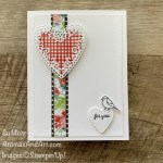 By Su Mohr for Fusion; Click aromasandart.com to go to my blog for details! Featuring: Berry Delightful Designer Paper, Be Mine Stitched Dies, Stitched Rectangles Dies, Quite Curvy Bundle; True Love Designer Paper; #heartsoncards #valentines #cleanandsimplecards #saleabration2021 #stampinup #handmadecards #handcrafted #diy #cardmaking #papercrafting #sumohr #aromasandart