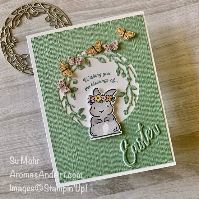 By Su Mohr for Pals Blog Hop; Springtime Joy Stamp Set, Gift Of Hope Stamp Set, Birds & More Dies, Word Wishes Dies, Subtle Textured embossing, Butterfly Bijou Designer Paper; #eastercards #easterbunny #springtimejoy #birds&more #eastercards #butterfliesoncards #handmadecards #handcrafted #diy #cardmaking #papercrafting