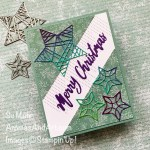 By Su Mohr for FMS; Click aromasandart.com to go to my website for details! Featuring: Christmas Trimmings Dies, Stitched Leaves Dies, Word Wishes Dies, Stitched Triangles Dies, Tidings Of Christmas Designer Paper, Rainbow Glimmer Paper; #christmascards #holiday2021 #holidaycards #cardsketches #christmastidings #tidingsofcheistmas #handmadecards #handcrafted #diy #cardmaking #papercrafting #sumohr #aromasandart.com/shop #stampinup