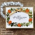 By Su Mohr for TGIF; Click aromasandart.com to go to my website for details! Featuring: Eden Dies, Pretty Pumpkins Stamp Set, Giving Gifts Dies, Bumblebee Gingham Trim, Beauty of the Earth Designer Paper, Tasteful Textile Embossing Folder; #edensgarden #edendies #wreaths #rectangularwreaths #wreathsoncards #snaekpeek #prettypumpkins #pumpkinsoncards #givinggiftsdies #handmadecards #handcrafted #diy #cardmaking #papercrafting #stamping #stanpinup #sumohr #aromasandart.com/shop