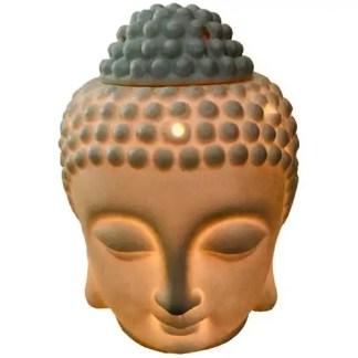 oliebrander, boeddha, wit, XXL,
