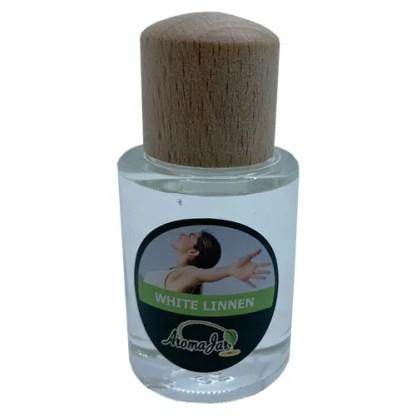 white linnen, aromajar, etherische olie, essentiele olie, diffuserolie, geurolie,
