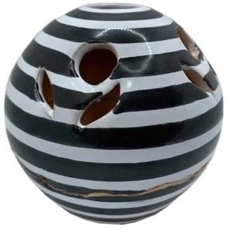 gestreept, zwart/wit, flowers, bolletje, sierpotje, ceramicas, decojar,