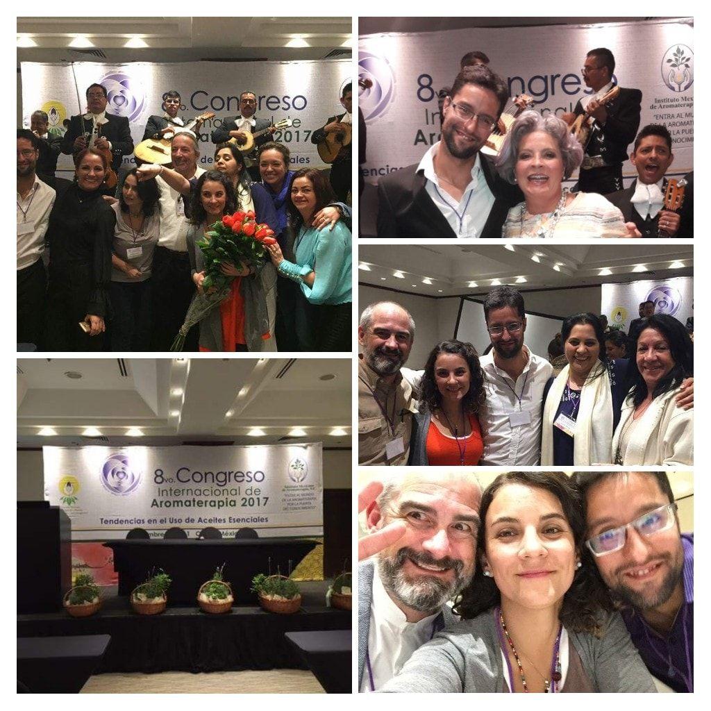 Compartiendo en el congreso internacional de aromaterapia.