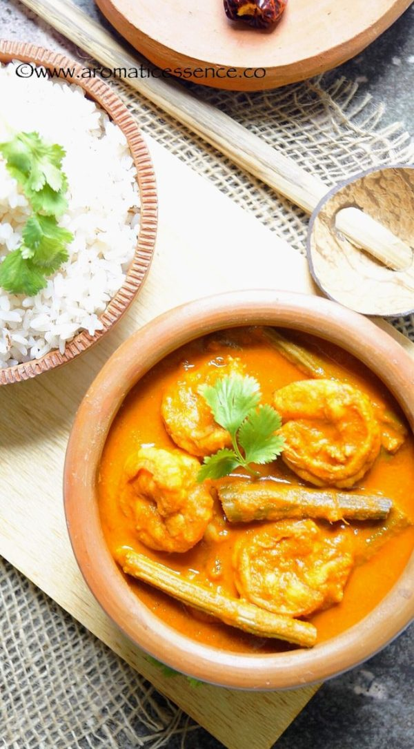 Goan shrimp/prawn curry with drumsticks