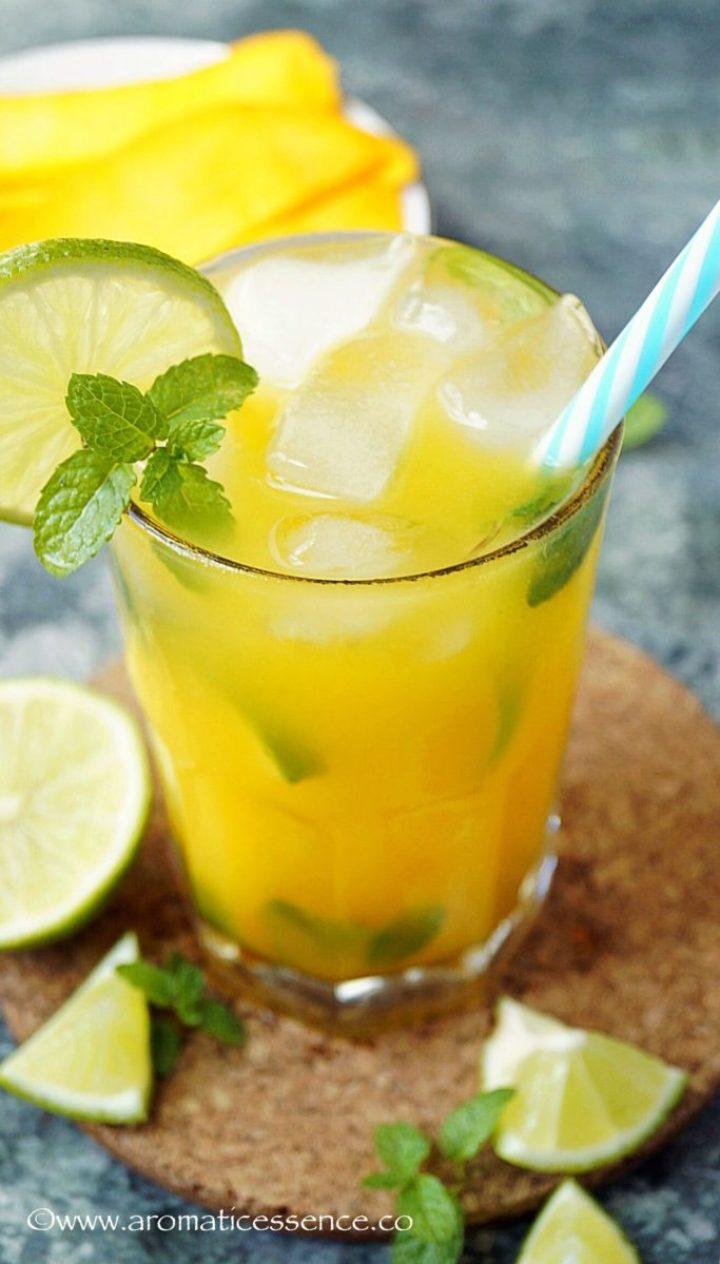 Mango Mojito Recipe {Non-Alcoholic}   Virgin Mango Mojito