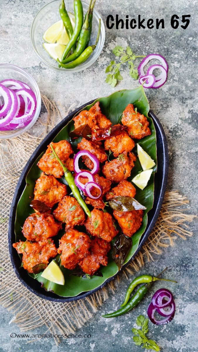 Chicken 65 baked version indian fried chicken aromatic essence chicken 65 is a popular south indian chicken appetizerentre bone in or boneless chicken chunks are marinated in a flavorful and spicy marinade and deep forumfinder Images