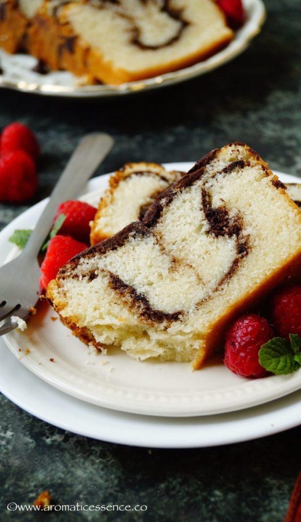 Eggless Marble cake | How To Make Eggless Marble Cake